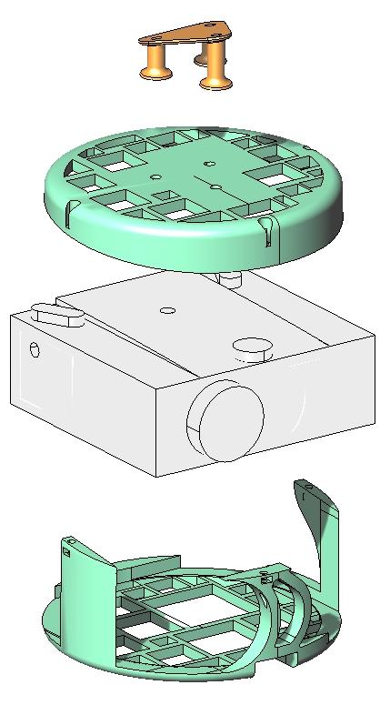 3D model nosača 1