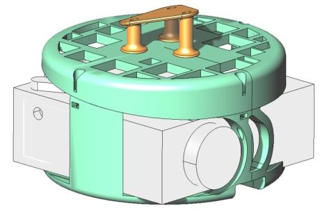3D model nosača 2